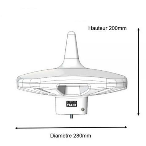 Digital Yacht-DTV100|HD Marine Omni-directional HDTV & FM Antenna|DVB|-7 to+2dB gain Thumbnail 4