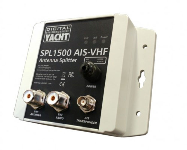 Digital Yacht SPL1500 VHF Antenna Splitter|VHF/AIS Operation|Use With Class B