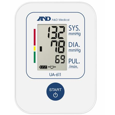 A&D Medical UA611 Upper Arm Blood Pressure Monitor With Digital LCD & 30 Memory  Thumbnail 4