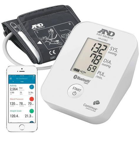 A&D Medical UA651BLE Blood Pressure Monitor|Bluetooth|Smart Sense|Low Energy|New| Thumbnail 4