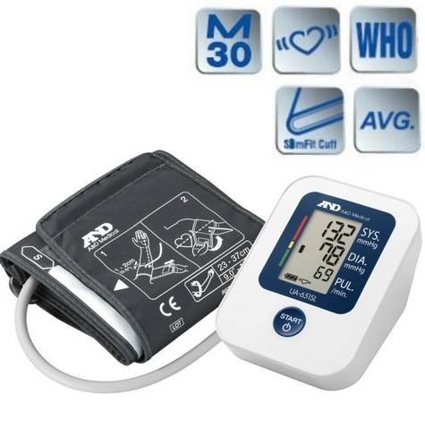 A&D Medical UA651SL Value Upper Arm Blood Pressure Monitor With Slim Fitt Cuff Thumbnail 1