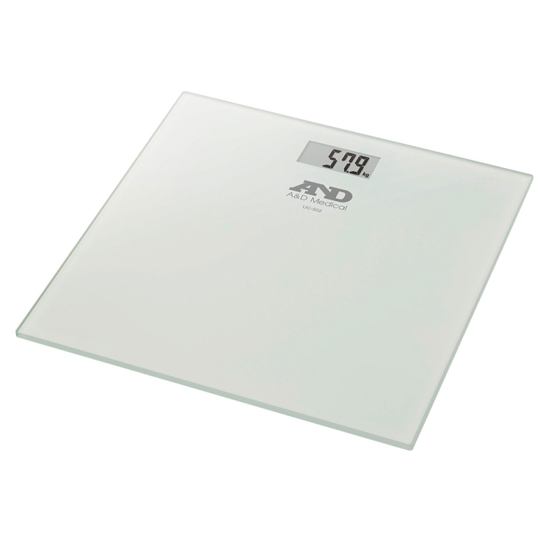 A&D Medical UC502 Precision Health Scale|Glass Plate|Digital|SENSE ON Technology