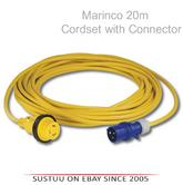 Marinco 20m Cordset with Moulded Connector|Water Tight|For Marie Construction