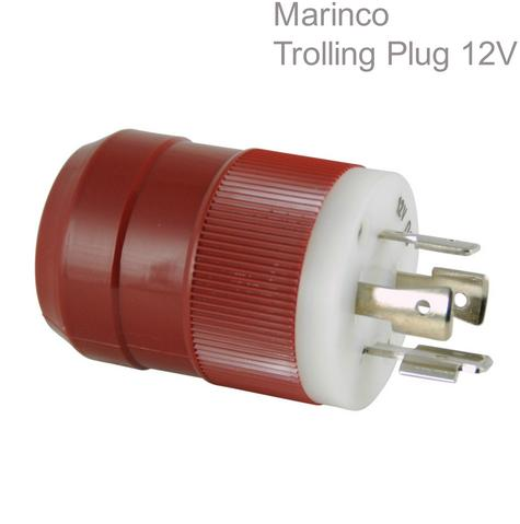 Marinco Trolling Plug 12V|4-Wire System|Allow 2 Batteries|Simultaneous|In Marine Thumbnail 1