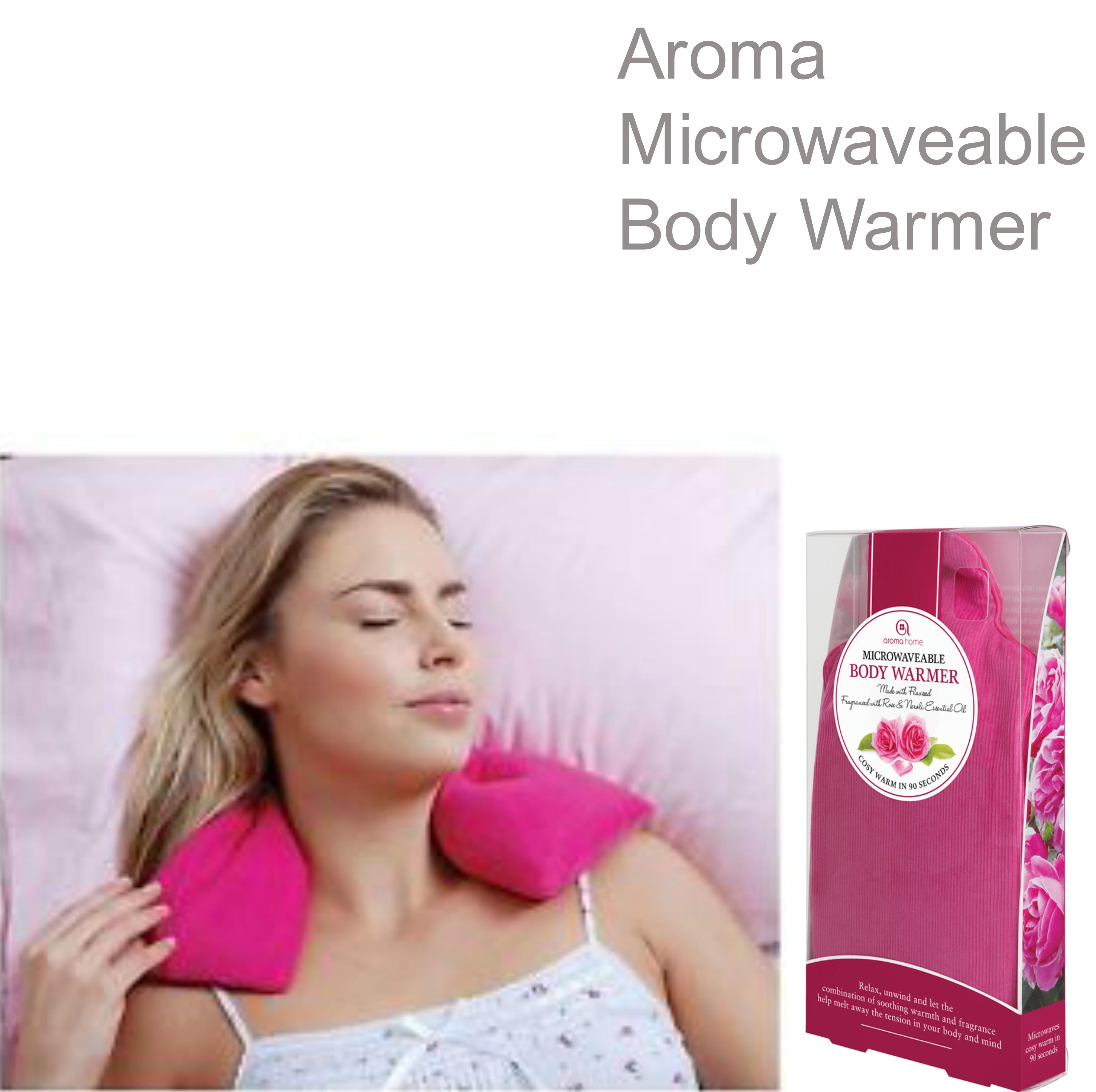 Aroma Home AROCORBW Perfect Body Warmer Fuschia With New Rose & Neroli Fragrance