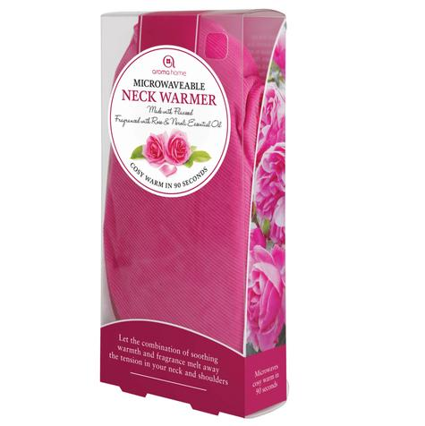 Aroma Home Microwaveable Cord Range Fuchsia Neck Warmer-Rose & Neroli Fragrance Thumbnail 2