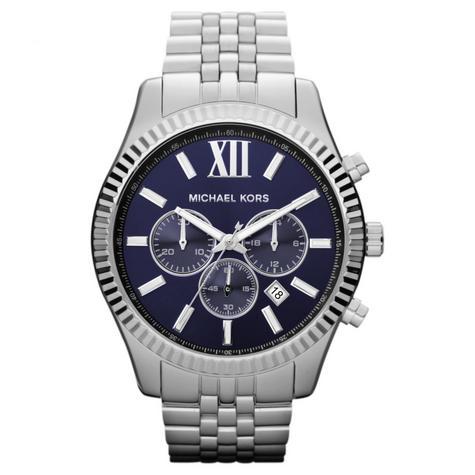 Michael Kors Lexington Men's Watch Chronograph Blue Dial Bracelet Strap MK8280 Thumbnail 1