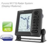 "Furuno M1715 Radar System 6"" B/W Display 24nm 15"" 2.2kW Radome For Marine Use"