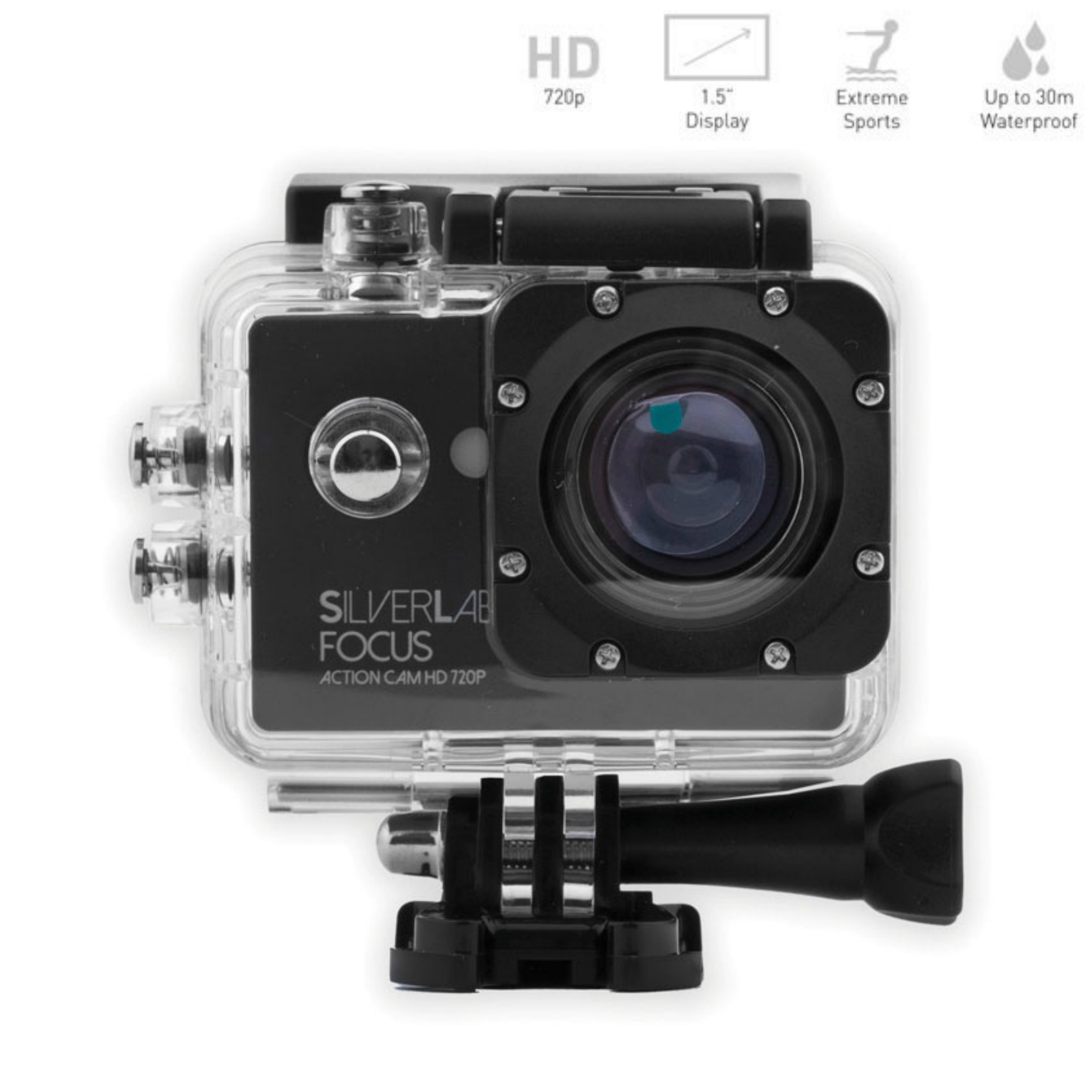 "SilverLabel-Focus Action Camera|1.5"" 5MP HD 720P