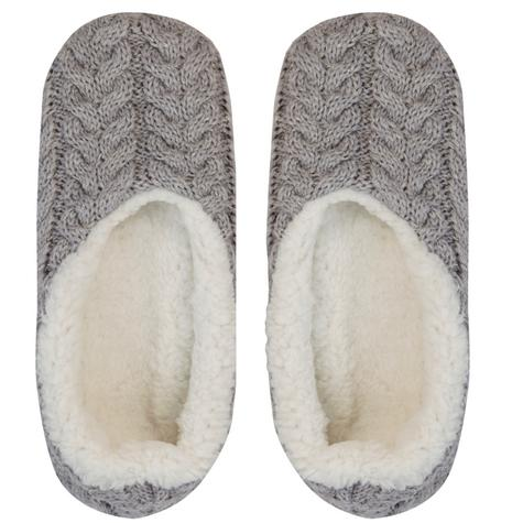 Aroma Home Mini Knitted Hot Water Bottle(500mn)|Cosy Slippers|Grey|Gift Set|New| Thumbnail 2