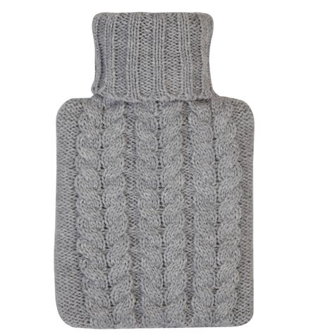 Aroma Home Mini Knitted Hot Water Bottle(500mn)|Cosy Slippers|Grey|Gift Set|New| Thumbnail 3