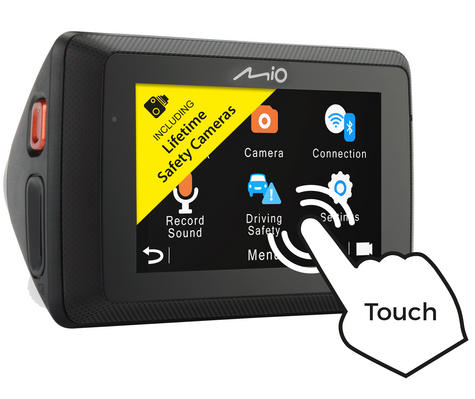 "Mio Mivue 786 Touch WIFI|2.7"" 1080p HD In Car GPS Dash Camera
