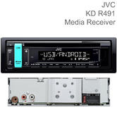 JVC 1-Din CD Receiver | Car Stereo | Media Player | USB/AUX Input | Android Music | MP3
