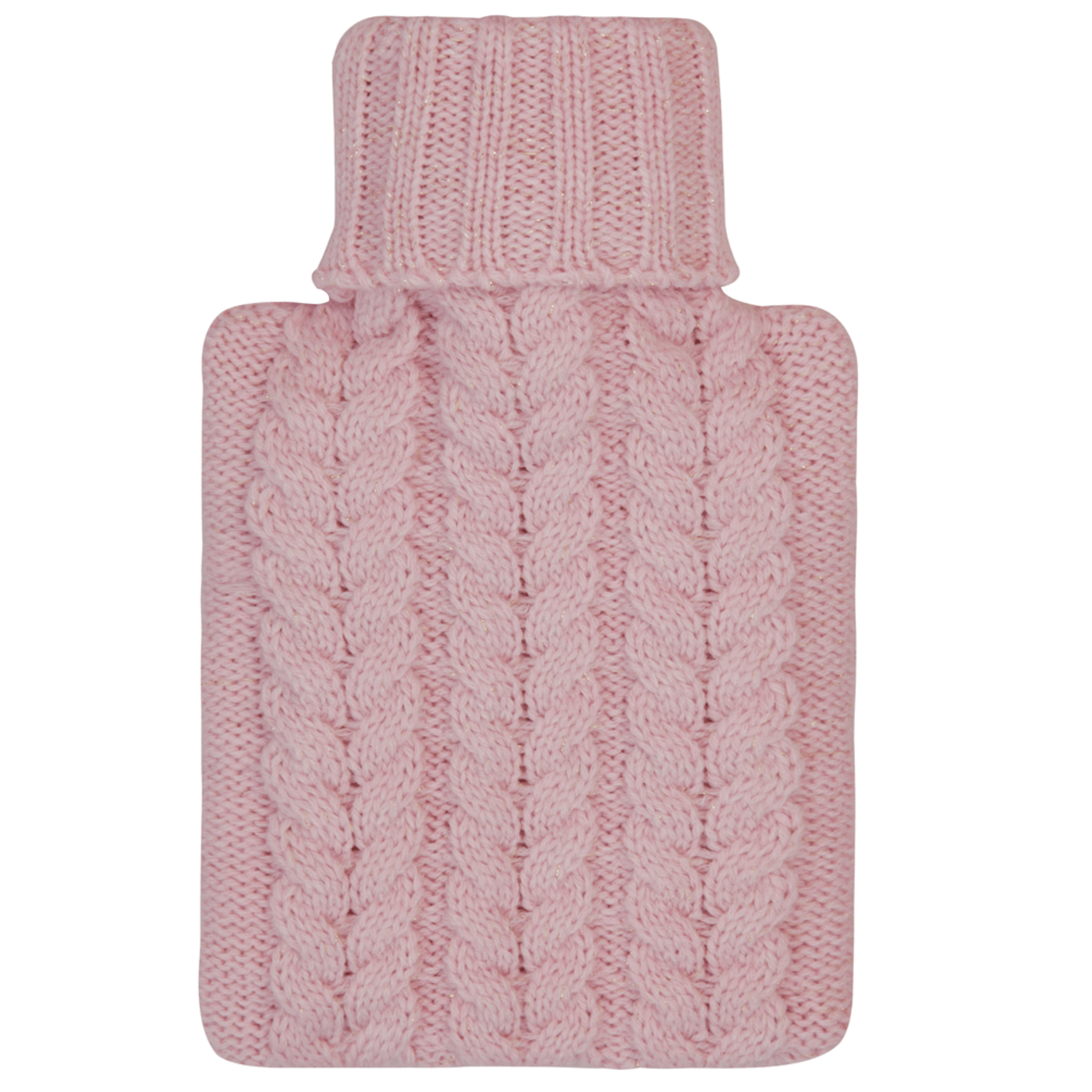 c5116f5512e7 Aroma Home Mini Knitted Hot Water Bottle   Cosy Slippers Gift Set - Pink  Thumbnail 3