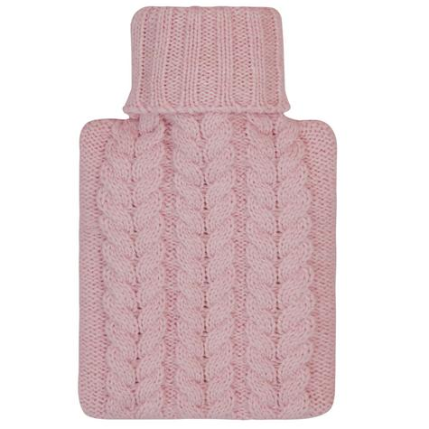 Aroma Home Mini Knitted Hot Water Bottle & Cosy Slippers Gift Set - Pink Thumbnail 3