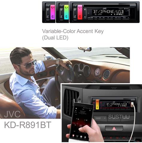 JVC Car Stereo|Radio|CD|MP3|USB|AUX|Bluetooth|iPod-iPhone-Android-Blackberry|New Thumbnail 1