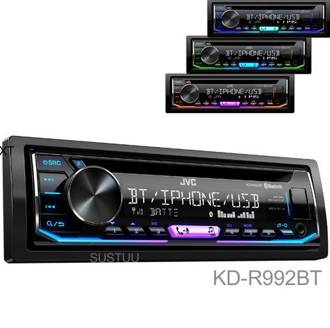 JVC Car Stereo|Radio|CD|MP3|USB|AUX|Bluetooth|iPod-iPhone-Android-Blackberry-New Thumbnail 1