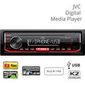 JVC Car Stereo Media Player | Digital Radio | iPod/iPhone/Android | USB | Bluetooth | MP3