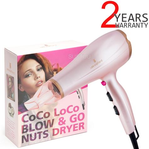 Lee Stafford Women's Hair Dryer | Coco Loco Blow & Go Nuts | 2400W | Coco Oil Infused | Thumbnail 1