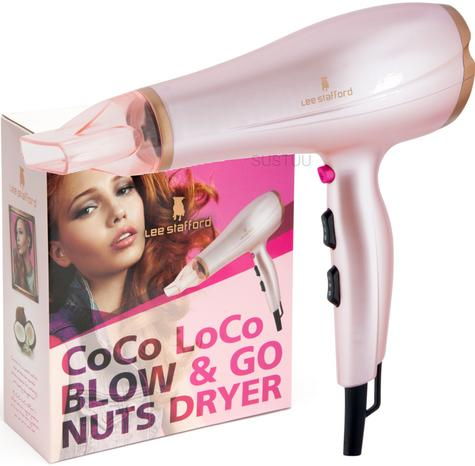 Lee Stafford?Women's?Coco Loco Blow & Go Nuts?Hair Dryer?2400W?Coco Oil Infused Thumbnail 1