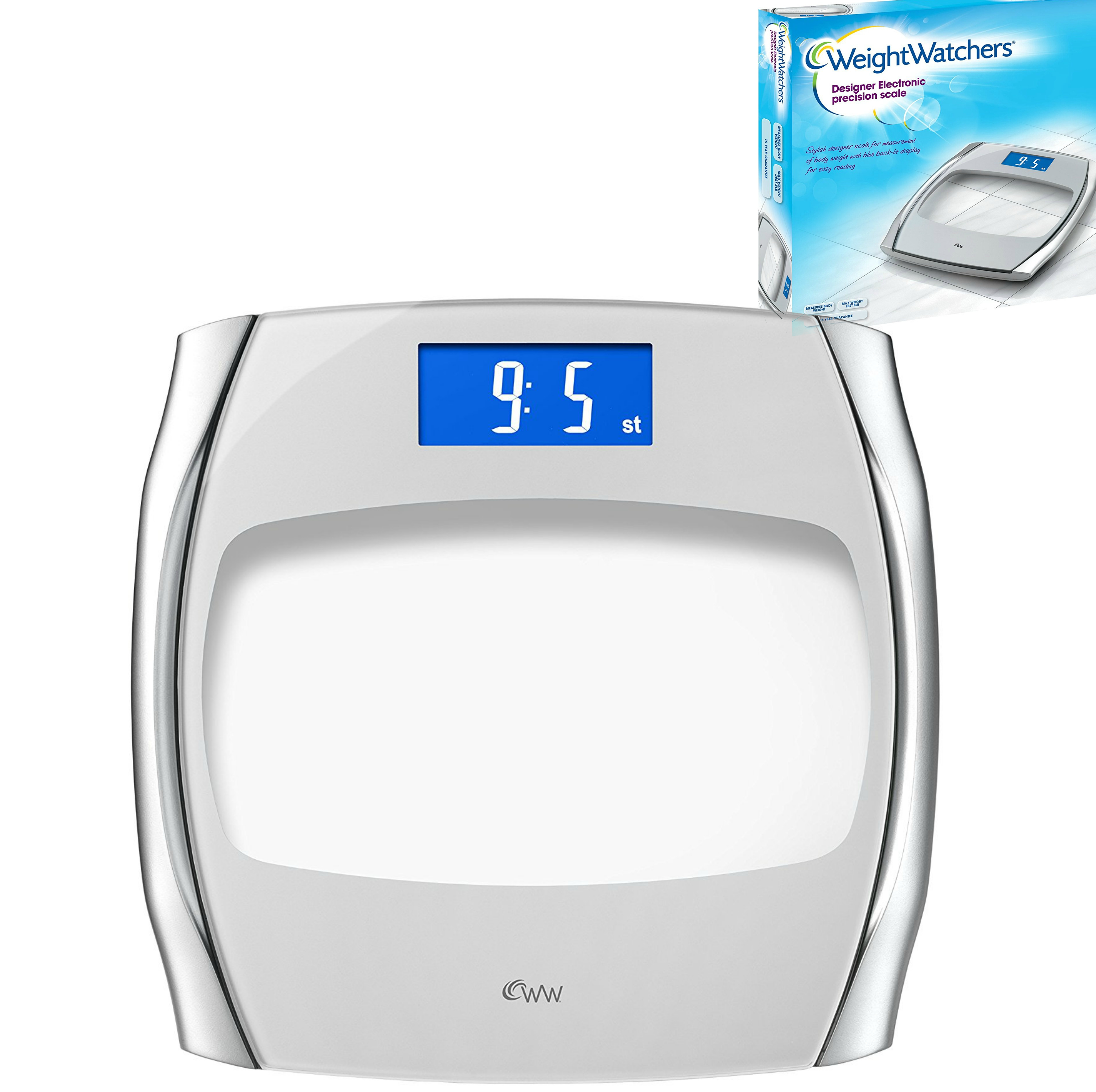 Weight Watchers Designer Electronic Precision Stylish Scale With Digital Display