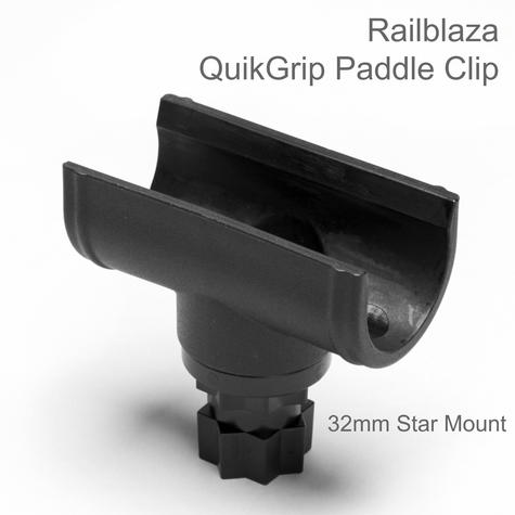 Railblaza QuickGrip Paddle Clip 32mm Star Mount|Store|For Kayak & SUP Paddles Thumbnail 1