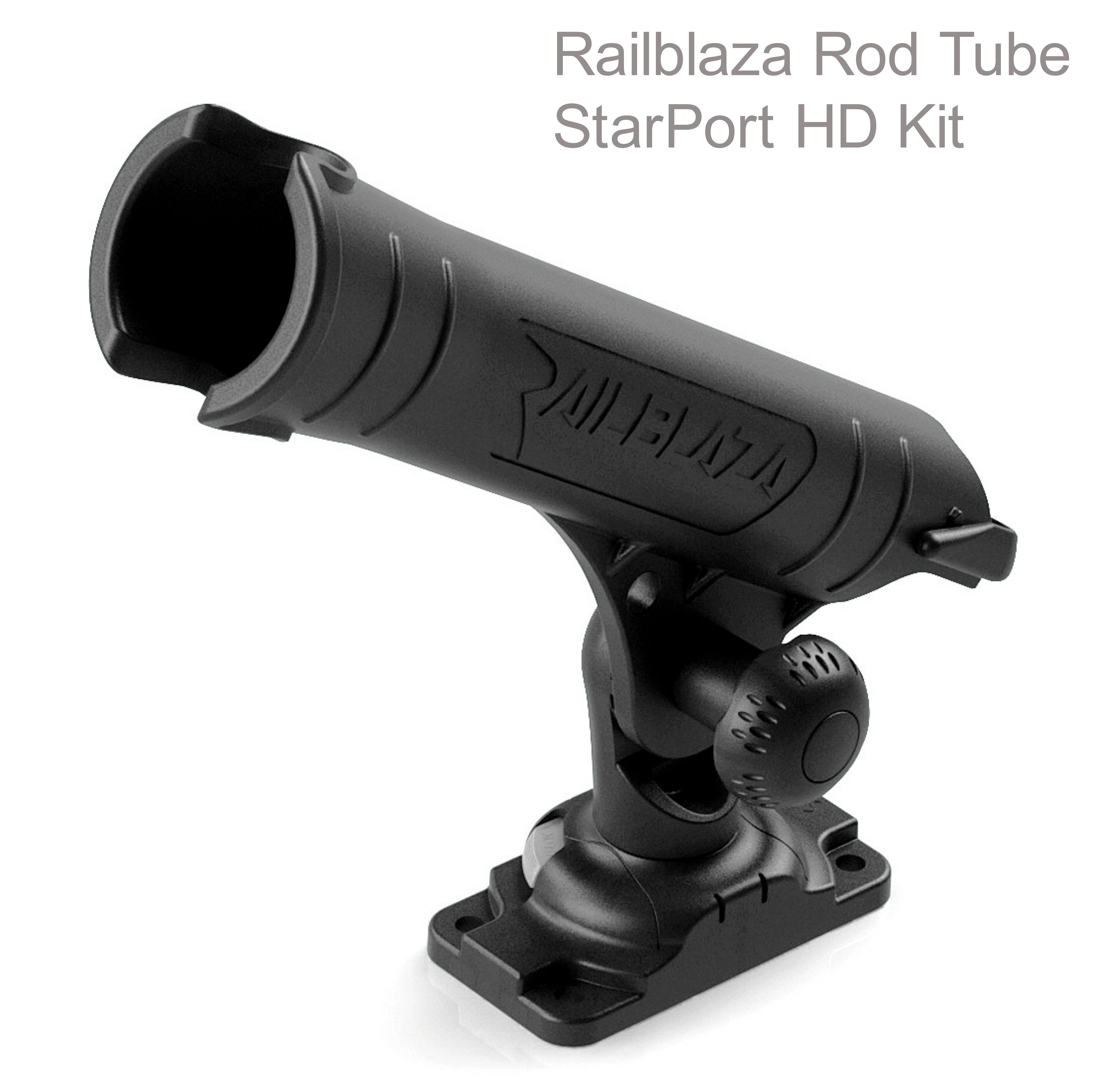 Railblaza Rod Tube StarPort HD Kit - Black|Adjustable|Removable|For Boat Kayak