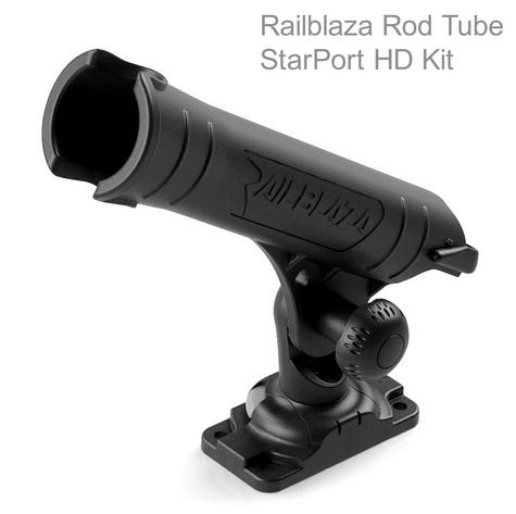 Railblaza Rod Tube StarPort HD Kit - Black|Adjustable|Removable|For Boat Kayak Thumbnail 1