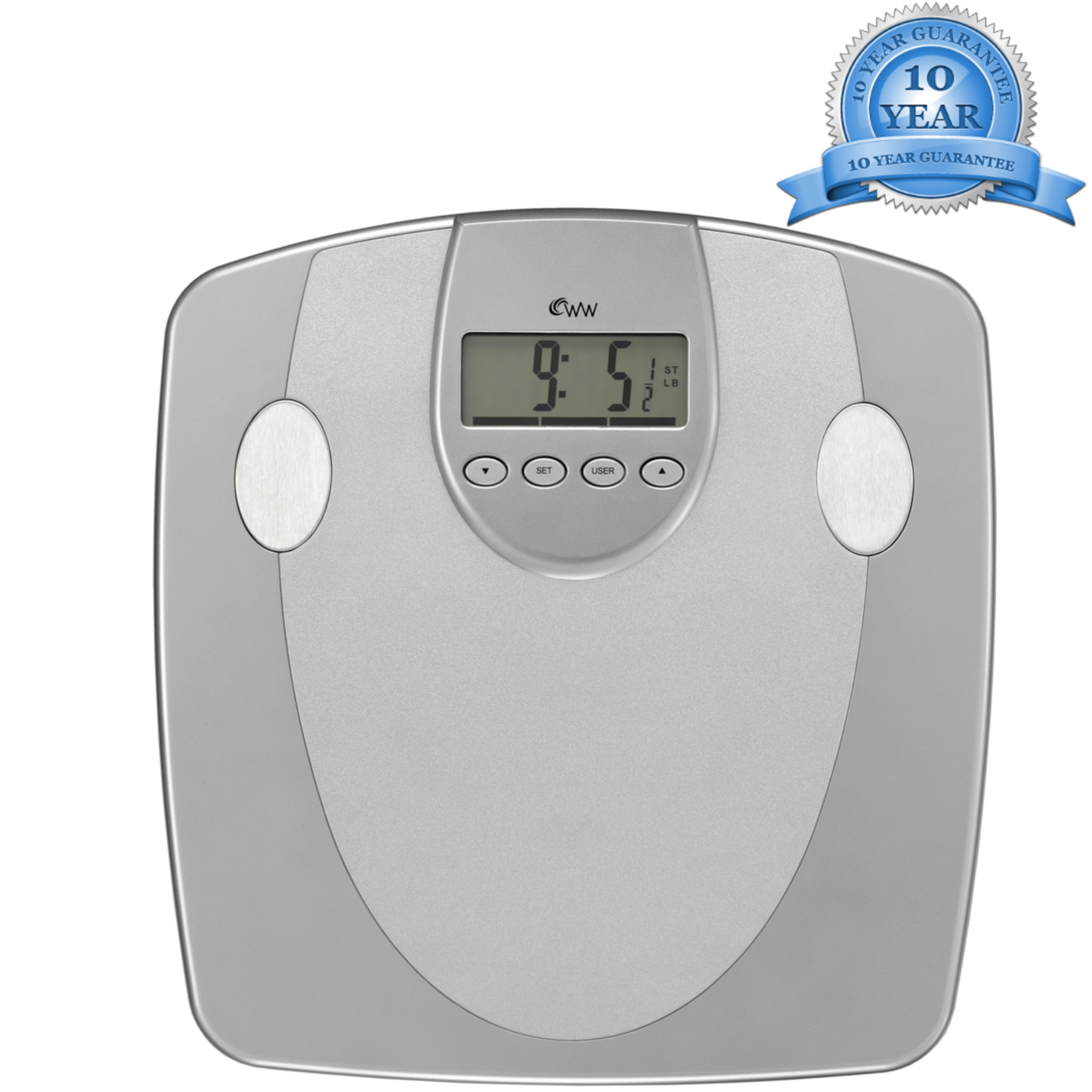 Weight Watchers Body Analyser Scale|33mm Display|5 Fitness Level|10 User Memory|