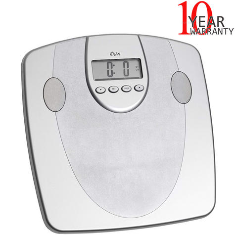 Weight Watchers Body Analyser Scale|33mm Display|5 Fitness Level|10 User Memory| Thumbnail 1