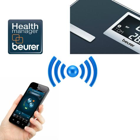 Beurer BF700 Diagnostic Scale|Smart Bluetooth|Health Manager|Digital Black LCD| Thumbnail 7