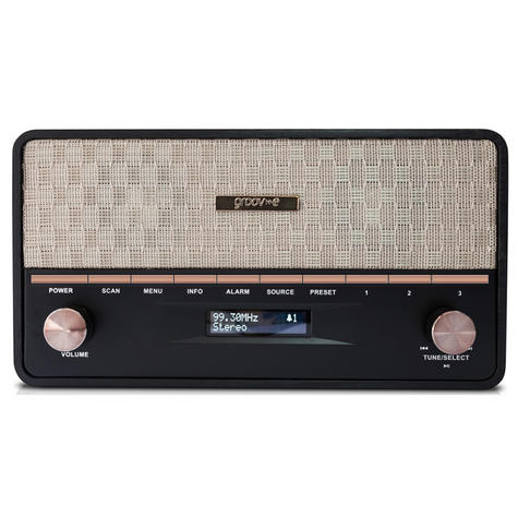 Groov-e GVDR02BK  Encore DAB/FM Digital Radio & Wireless Bluetooth Speaker-Black Thumbnail 2