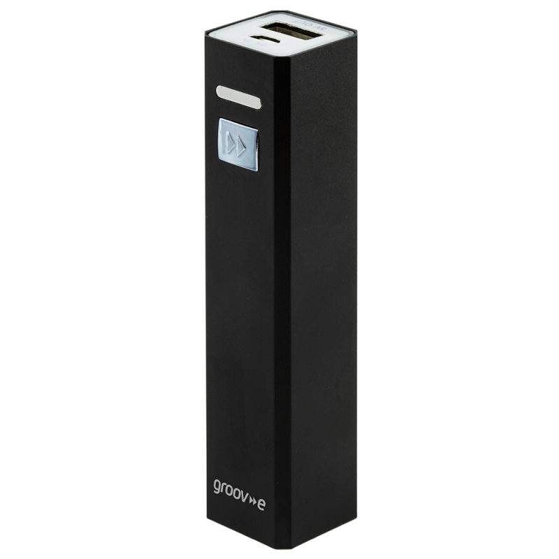 Groov-e GVCH2600BK Portable PowerBank Stick Charge|2600mAh|Level Indicator|Black