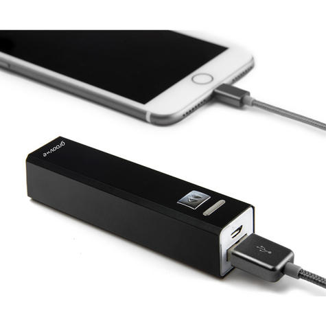 Groov-e GVCH2600BK Portable PowerBank Stick Charge|2600mAh|Level Indicator|Black Thumbnail 3