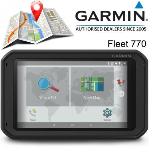 "Garmin Fleet 770 | 7"" GPS Sat Nav | Truck Routing | Lifetime Europe Map Updates | Wi-Fi | Bluetooth Thumbnail 1"