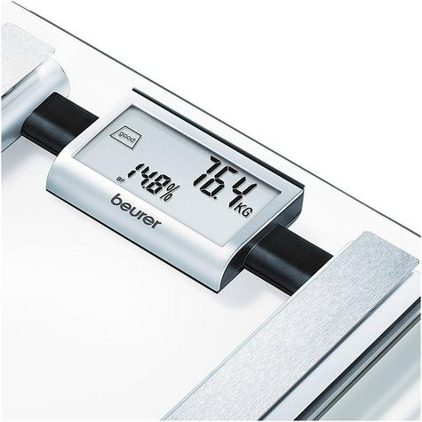 Beurer BG39 Glass Diagnostic Bathroom Scale|Large Digital Display|BMR+AMR|BF|New Thumbnail 2