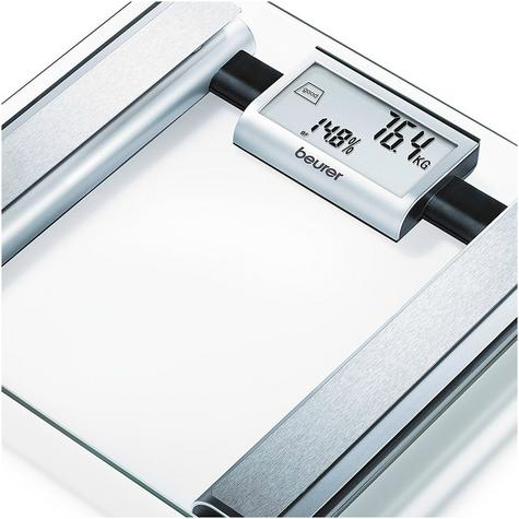 Beurer BG39 Glass Diagnostic Bathroom Scale|Large Digital Display|BMR+AMR|BF|New Thumbnail 3