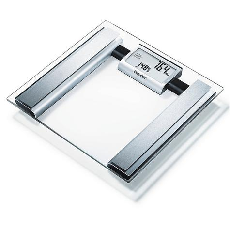 Beurer BG39 Glass Diagnostic Bathroom Scale|Large Digital Display|BMR+AMR|BF|New Thumbnail 5
