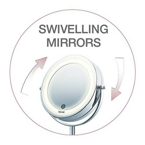 Beurer BS55 Illuminated Swive Vanity Mirror|MakeUp|Shaving|13cm|LED|Touch Sensor Thumbnail 6