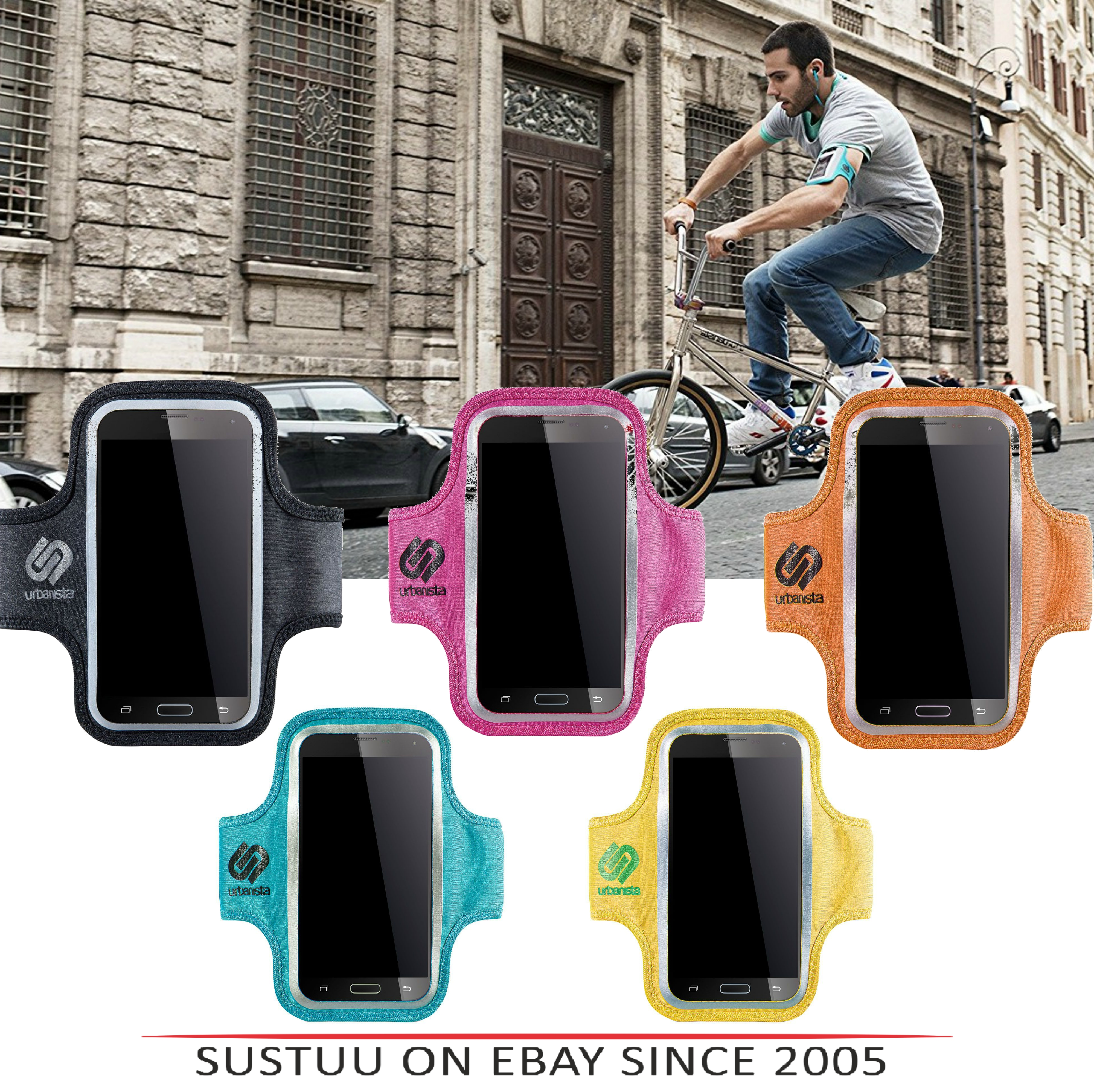 Urbanista Sao Paulo Armband|Water Resistant|Black|Pink|Yellow|Orange|Turquoise