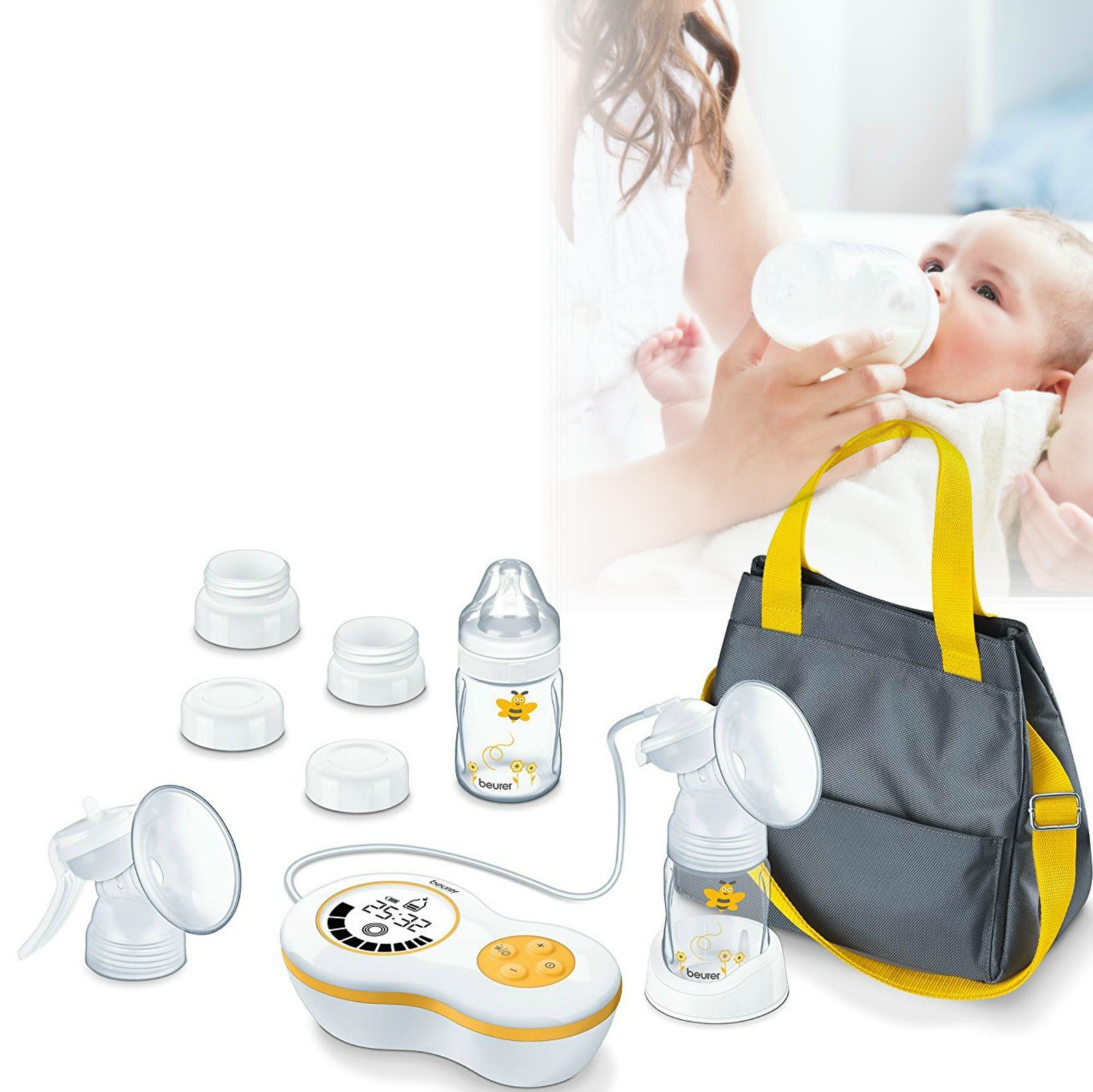 Beurer BY60  Breast Pump Kit|Baby Feeding|Milk|Water|Storage Bag|Accessories|New