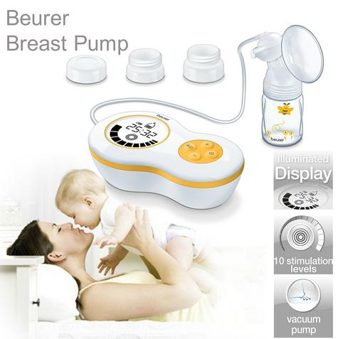 Beurer BY40 Breast Pump|Baby Feeding|Milk-Water|Bottles|Screw Cap|Adapter|New| Thumbnail 1