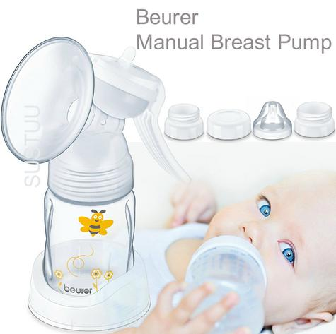 Beurer BY15 Manual Breast Compact Design Pump|Silicone Cushion|Screw Cap|Bottle| Thumbnail 1