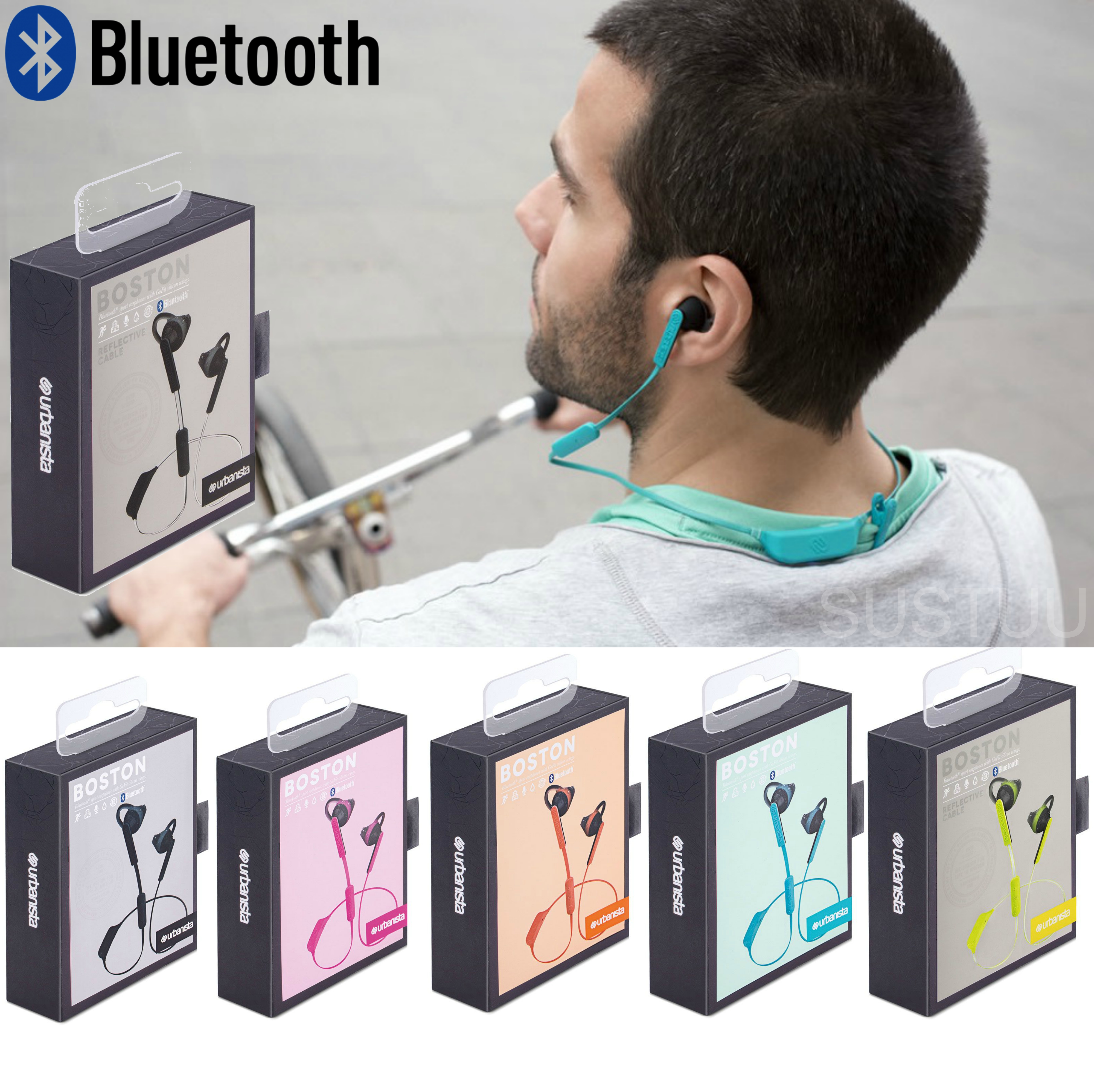 Urbanista Boston Wireless Bluetooth Earphone|Water Sweat Resistant|Multi Color