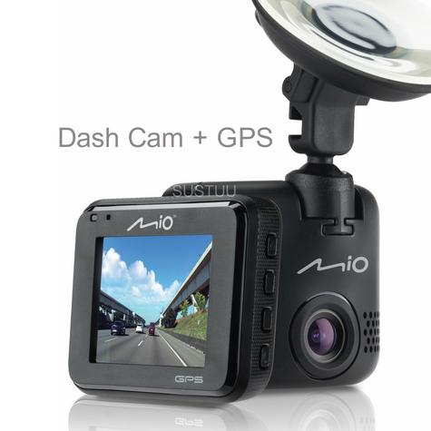 Mio MiVue C330|Full HD Dash Camera+Integrated GPS|Accident Recorder|SafetyCamera Thumbnail 1