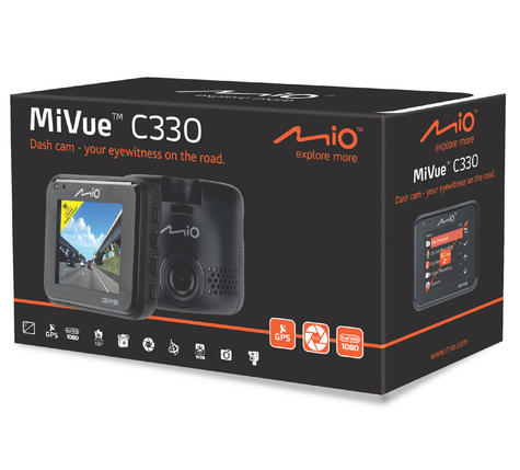 Mio MiVue C330|Full HD Dash Camera+Integrated GPS|Accident Recorder|SafetyCamera Thumbnail 8