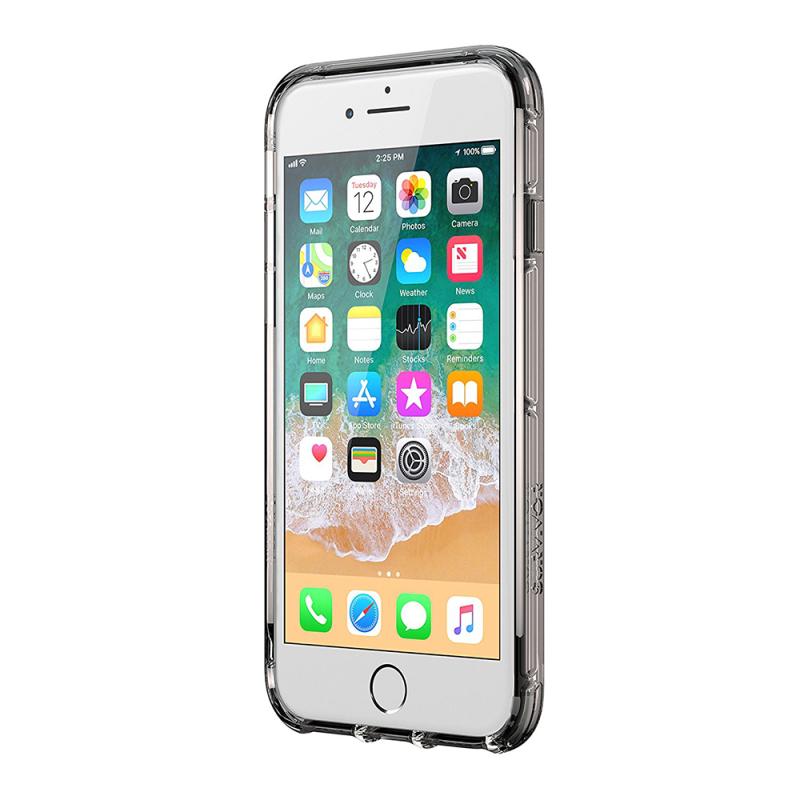Griffin Survivor Clear Case for iPhone8 Plus, 7 Plus, 6 Plus - Black/Smoke/Clear