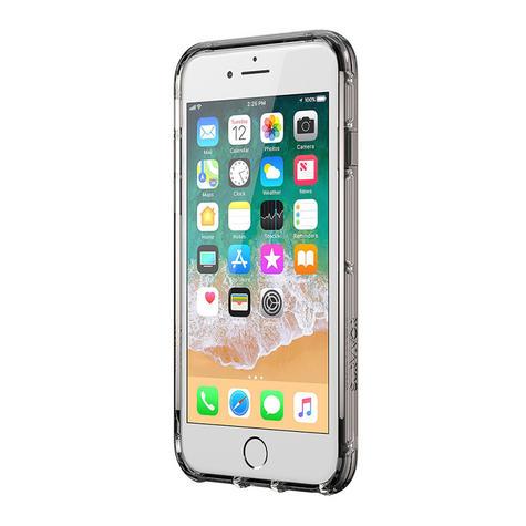 Griffin Survivor Clear Case for iPhone8 Plus, 7 Plus, 6 Plus - Black/Smoke/Clear Thumbnail 1