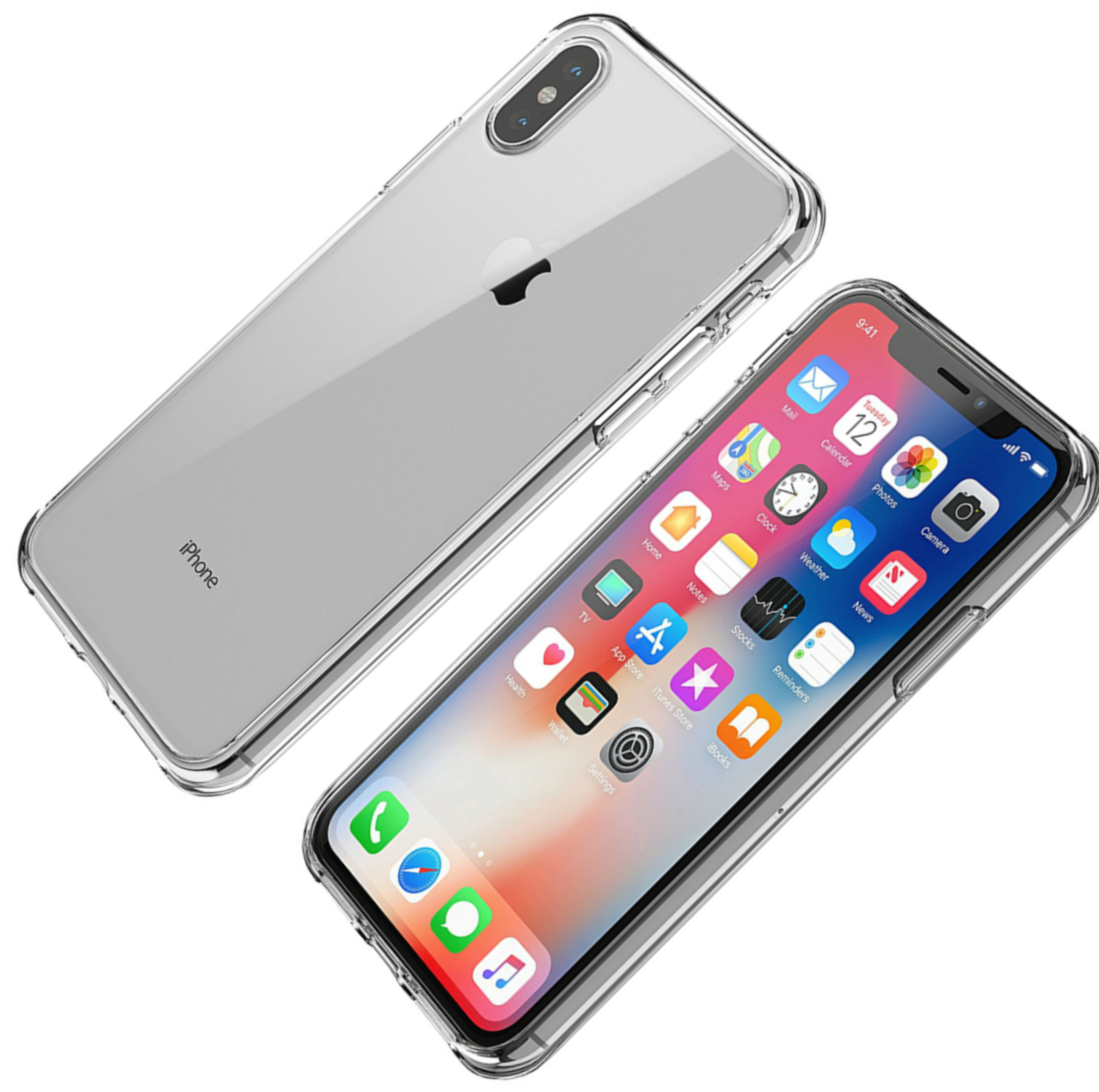Griffin Reveal PolyCarbonate & TPU Case Cover / Slim / Hybrid / iPhone X - Clear