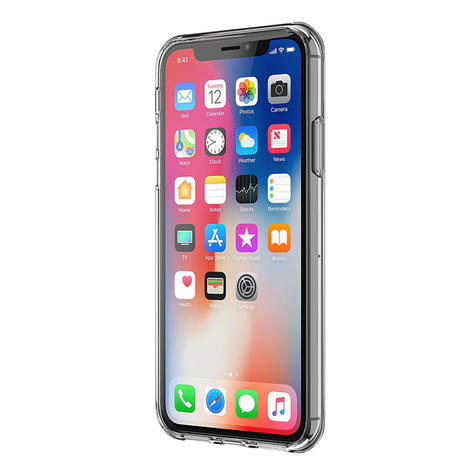 Griffin Reveal PolyCarbonate & TPU Case Cover / Slim / Hybrid / iPhone X - Clear  Thumbnail 5